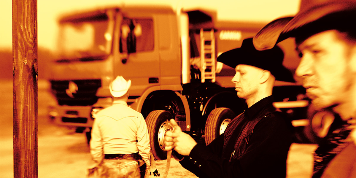 Imagekampagne, Motiv: 3 Cowboys. Euroleasing Used Trucks